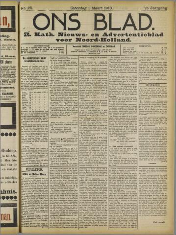 Ons Blad : katholiek nieuwsblad voor N-H 1913-03-01