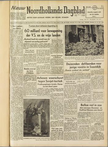 Nieuw Noordhollandsch Dagblad : voor Alkmaar en omgeving 1951-05-01
