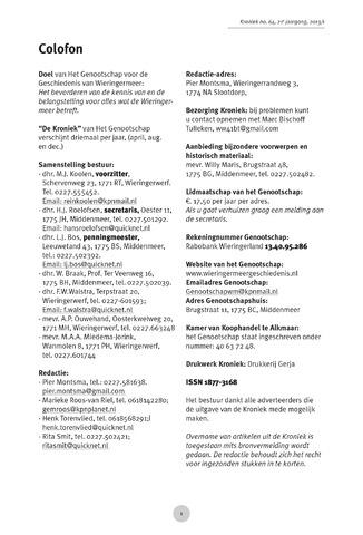 Kroniek Historisch Genootschap Wieringermeer 2013-04-01