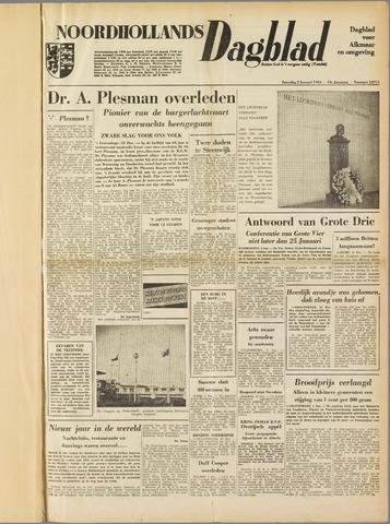 Noordhollands Dagblad : dagblad voor Alkmaar en omgeving 1954-01-02