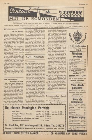 Contact met de Egmonden 1961-12-07