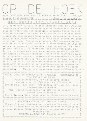 Op De Hoek, weekblad voor Akersloot 1961-09-08