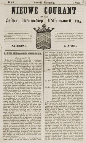 Nieuwe Courant van Den Helder 1862-04-05