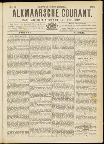 Alkmaarsche Courant 1906-04-17