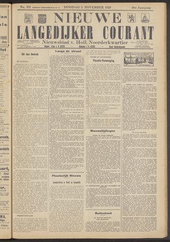 Nieuwe Langedijker Courant 1929-11-05