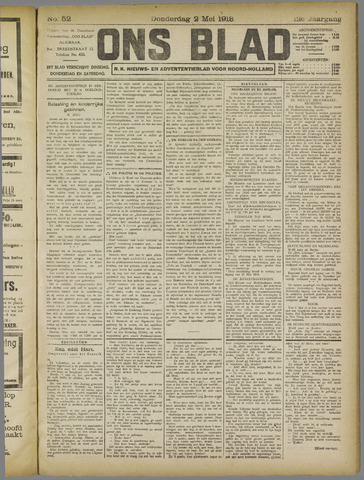 Ons Blad : katholiek nieuwsblad voor N-H 1918-05-02