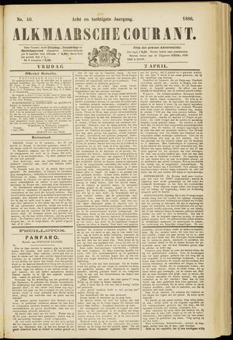 Alkmaarsche Courant 1886-04-02