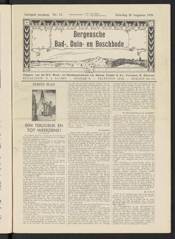 Bergensche bad-, duin- en boschbode 1939-08-26