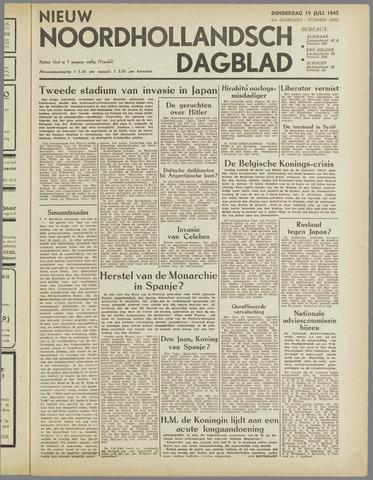Nieuw Noordhollandsch Dagblad : voor Alkmaar en omgeving 1945-07-19