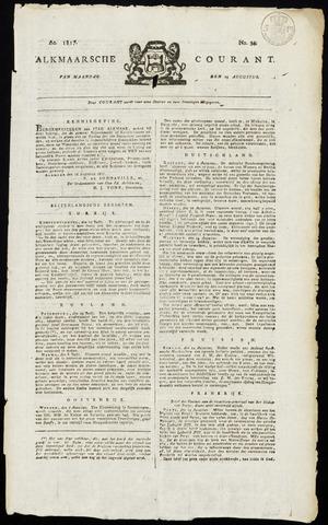 Alkmaarsche Courant 1817-08-25
