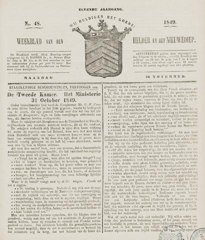 Weekblad van Den Helder en het Nieuwediep 1849-11-26