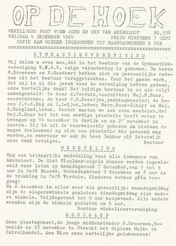 Op De Hoek, weekblad voor Akersloot 1964-12-04