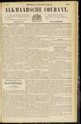 Alkmaarsche Courant 1900-11-30