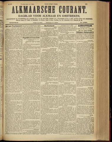 Alkmaarsche Courant 1928-04-25