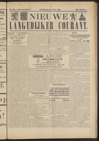 Nieuwe Langedijker Courant 1923-06-14