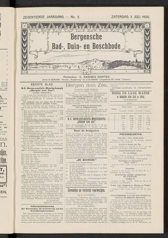 Bergensche bad-, duin- en boschbode 1926-07-03