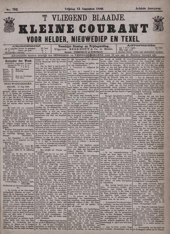 Vliegend blaadje : nieuws- en advertentiebode voor Den Helder 1880-08-13
