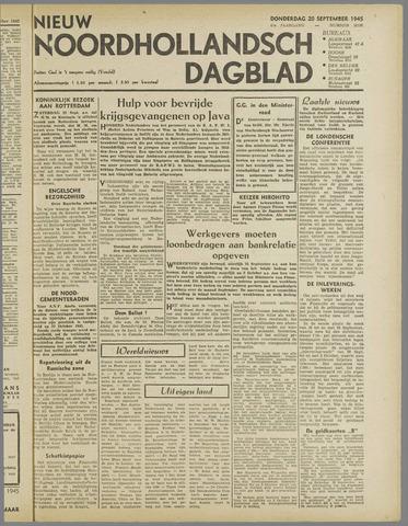 Nieuw Noordhollandsch Dagblad : voor Alkmaar en omgeving 1945-09-20