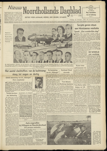 Nieuw Noordhollandsch Dagblad : voor Alkmaar en omgeving 1948-10-22