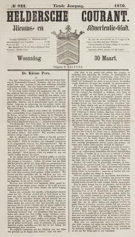 Heldersche Courant 1870-03-30