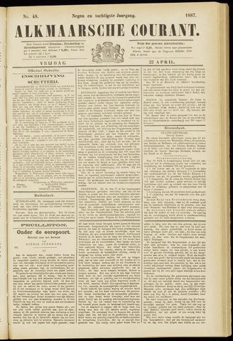 Alkmaarsche Courant 1887-04-22
