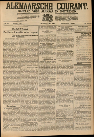 Alkmaarsche Courant 1934-05-09