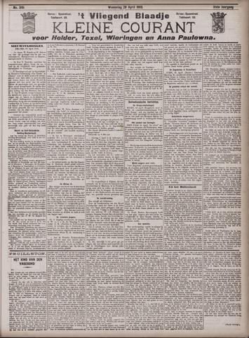 Vliegend blaadje : nieuws- en advertentiebode voor Den Helder 1903-04-29