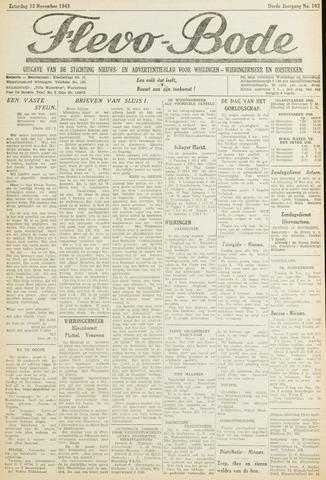 Flevo-bode: nieuwsblad voor Wieringen-Wieringermeer 1948-11-13