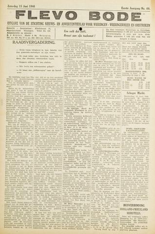 Flevo-bode: nieuwsblad voor Wieringen-Wieringermeer 1946-06-15