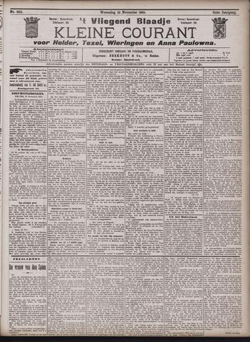 Vliegend blaadje : nieuws- en advertentiebode voor Den Helder 1903-11-25