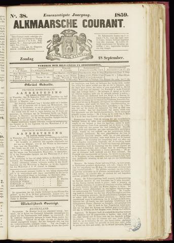 Alkmaarsche Courant 1859-09-18