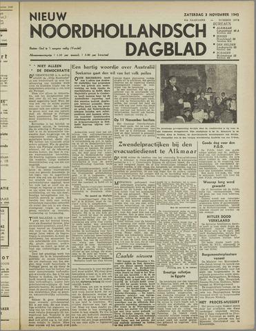 Nieuw Noordhollandsch Dagblad : voor Alkmaar en omgeving 1945-11-03