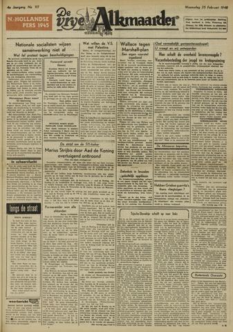 De Vrije Alkmaarder 1948-02-25
