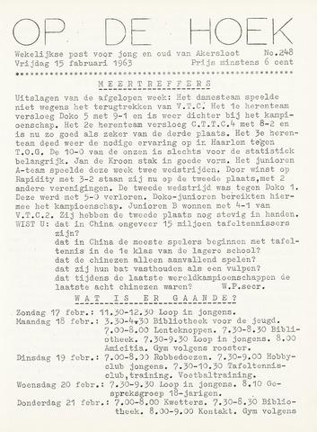Op De Hoek, weekblad voor Akersloot 1963-02-15