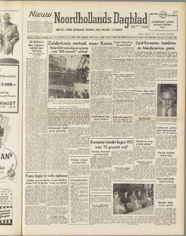 Nieuw Noordhollandsch Dagblad : voor Alkmaar en omgeving 1950-10-27