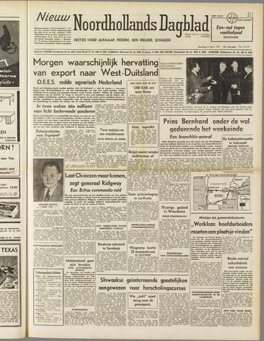 Nieuw Noordhollandsch Dagblad : voor Alkmaar en omgeving 1951-04-09