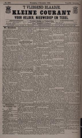 Vliegend blaadje : nieuws- en advertentiebode voor Den Helder 1884-12-03