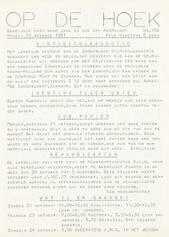 Op De Hoek, weekblad voor Akersloot 1961-10-20