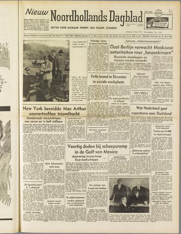 Nieuw Noordhollandsch Dagblad : voor Alkmaar en omgeving 1951-04-21