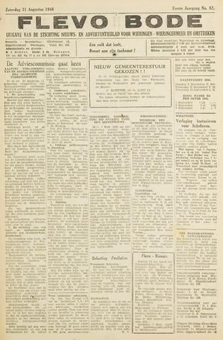 Flevo-bode: nieuwsblad voor Wieringen-Wieringermeer 1946-08-31