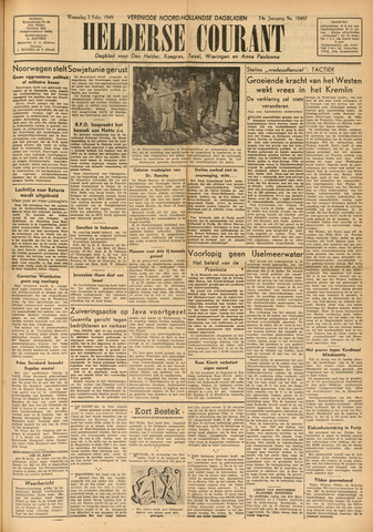 Heldersche Courant 1949-02-02