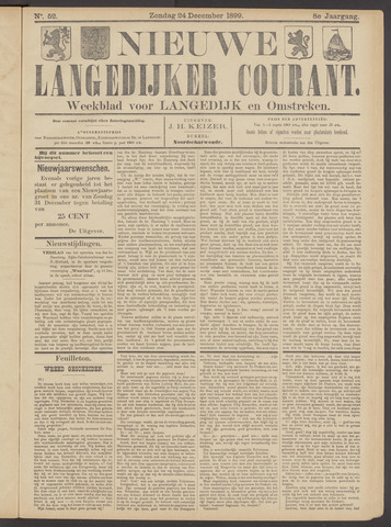 Nieuwe Langedijker Courant 1899-12-24