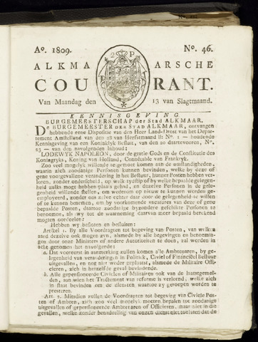 Alkmaarsche Courant 1809-11-13
