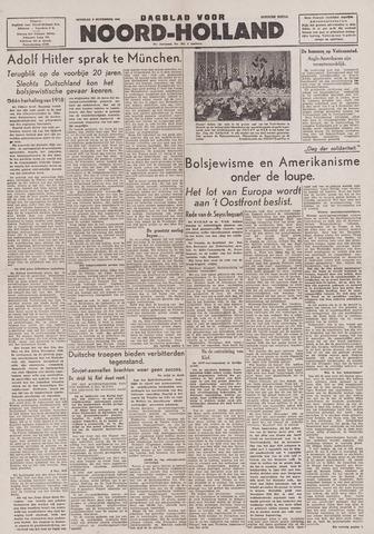 Dagblad Noord-Holland, Schager editie 1943-11-09