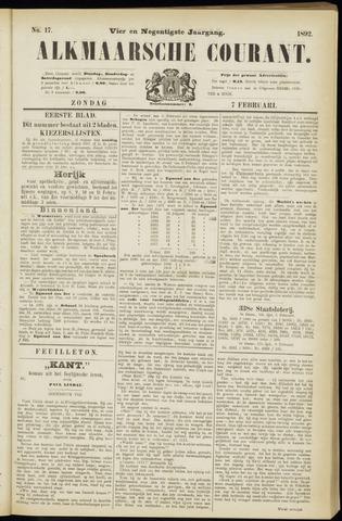 Alkmaarsche Courant 1892-02-07