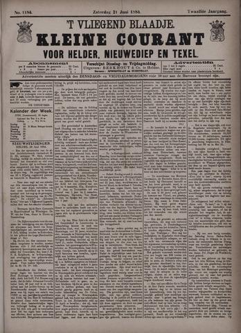 Vliegend blaadje : nieuws- en advertentiebode voor Den Helder 1884-06-21