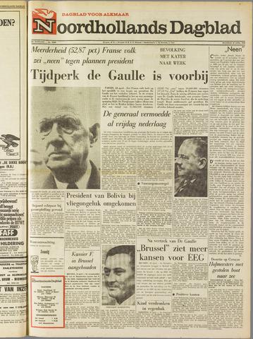 Noordhollands Dagblad : dagblad voor Alkmaar en omgeving 1969-04-28