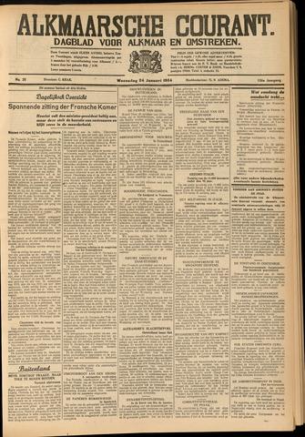 Alkmaarsche Courant 1934-01-24