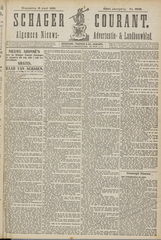 Schager Courant 1920-06-16