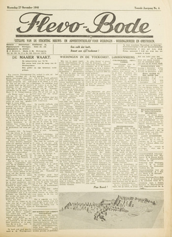 Flevo-bode: nieuwsblad voor Wieringen-Wieringermeer 1946-11-27